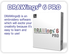 DRAWings 5 Embroidery software