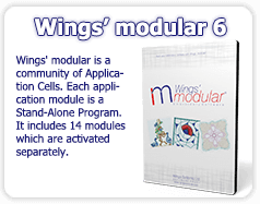 Wings' modular 6 Professional Embroidery software