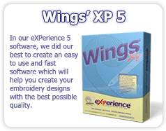 Wings' XP 5 Professional Embroidery software